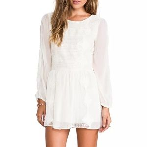 Free People White Boho Leigh Lace Dress